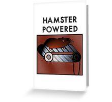 Hamster powered Greeting Card