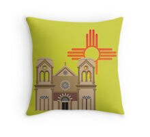 Santa Fe Basilica Throw Pillow