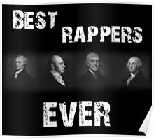 Best Rappers Ever - Hamilton (White text) Poster