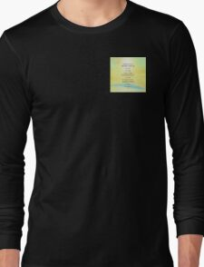 Serenity Prayer Yellow Sky Blue Mountain Long Sleeve T-Shirt