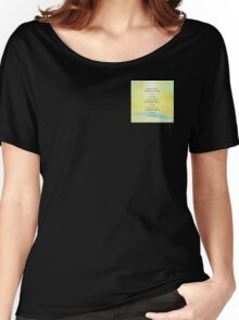 Serenity Prayer Yellow Sky Blue Mountain Women's Relaxed Fit T-Shirt