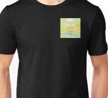 Serenity Prayer Yellow Sky Blue Mountain Unisex T-Shirt