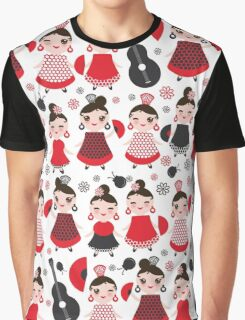 Flamenco girls with fans and guitars Graphic T-Shirt