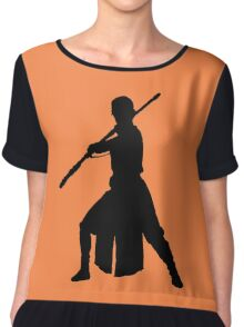 Rey - Fighting Stance Silhouette Chiffon Top