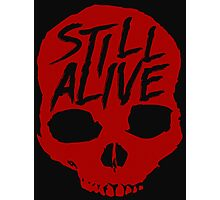 Still Alive (Red) Photographic Print