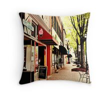 Adventures in the town square Throw Pillow