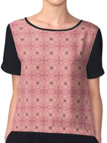Pink floral fractal Chiffon Top