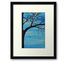 baby blue tree Framed Print