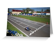 finish line Greeting Card
