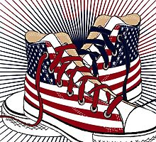 American Teen Patriotic Shoes  by CroDesign