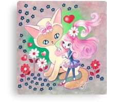 Siamese Kitty Princess Canvas Print