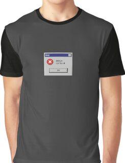 Design Not Found Windows Retro. Graphic T-Shirt