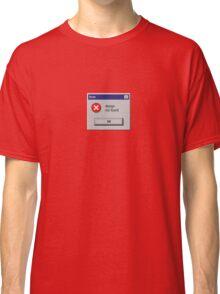 Design Not Found Windows Retro. Classic T-Shirt