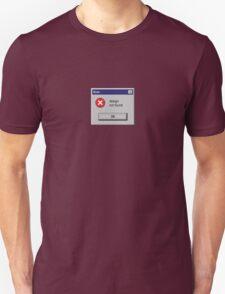 Design Not Found Windows Retro. Unisex T-Shirt