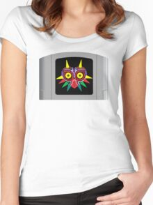 Majora's Mask N64 Cartridge Women's Fitted Scoop T-Shirt