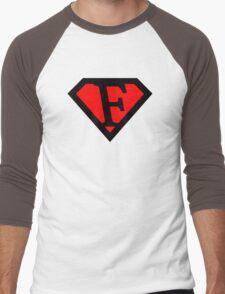 F letter in Superman style Men's Baseball ¾ T-Shirt