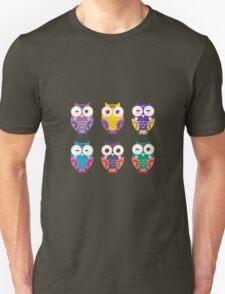 Colourful owls Unisex T-Shirt