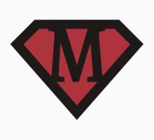 M letter in Superman style by florintenica