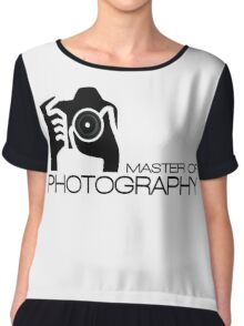 Photographer Camera T-Shirt Chiffon Top