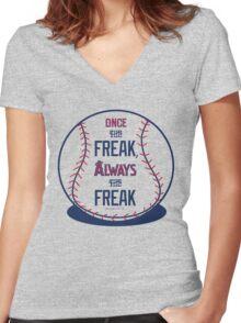 "Tim Lincecum ""The Freak"" Angels shirt Women's Fitted V-Neck T-Shirt"