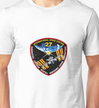 International Space Stataion (ISS) Mission 27 Unisex T-Shirt