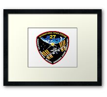 International Space Stataion (ISS) Mission 27 Framed Print