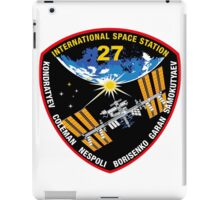 International Space Stataion (ISS) Mission 27 iPad Case/Skin