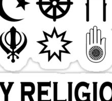 my religion your religion woman Sticker
