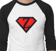 Z letter in Superman style Men's Baseball ¾ T-Shirt