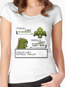Wild CTHULHU uses Tentacle Tackle!  Women's Fitted Scoop T-Shirt