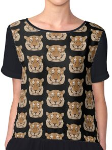Polygon Tiger Chiffon Top