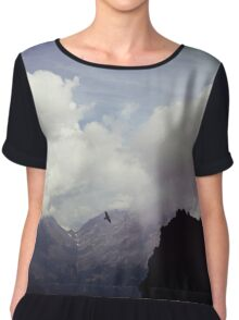Clouds over Mountains Chiffon Top