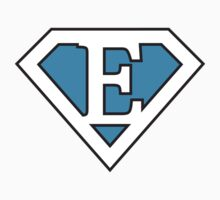 E letter in Superman style by Stock Image Folio
