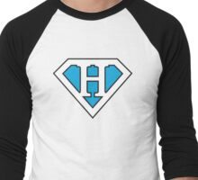 H letter in Superman style Men's Baseball ¾ T-Shirt