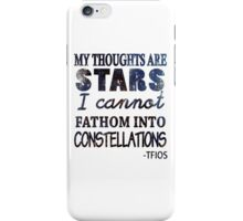 My Thoughts Are Stars 2 iPhone Case/Skin