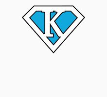 K letter in Superman style Men's Baseball ¾ T-Shirt
