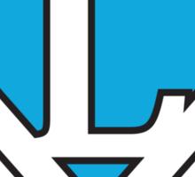 L letter in Superman style Sticker