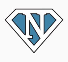 N letter in Superman style by Stock Image Folio