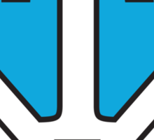 T letter in Superman style Sticker