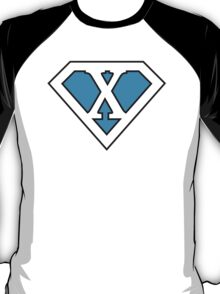 X letter in Superman style T-Shirt