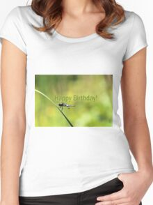 Birthday Dragonfly Women's Fitted Scoop T-Shirt