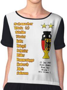 West Germany Euro 1980 Winners Chiffon Top