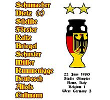 West Germany Euro 1980 Winners Photographic Print