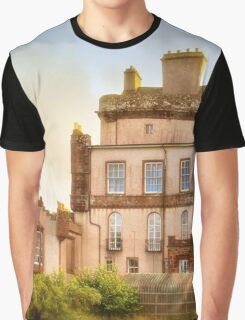 Delgatie Castle Rear View (near Turriff, in Aberdeenshire, Scotland) Graphic T-Shirt