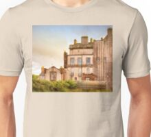 Delgatie Castle Rear View (near Turriff, in Aberdeenshire, Scotland) Unisex T-Shirt