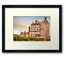 Delgatie Castle Rear View (near Turriff, in Aberdeenshire, Scotland) Framed Print