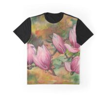 Magnolia Blossoms (in Watercolor) Graphic T-Shirt