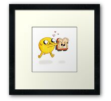 Jake and Sammich Framed Print