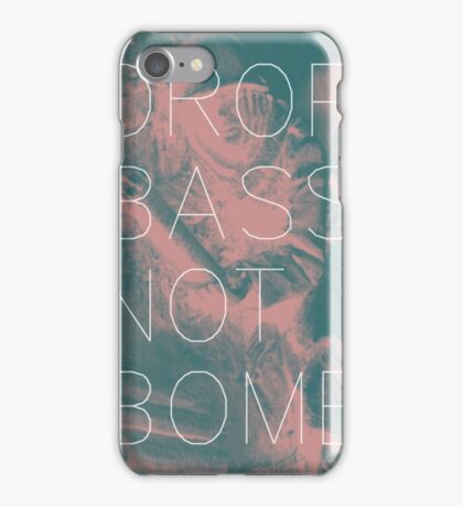 Drop Bass Not Bombs (Vintage) iPhone Case/Skin