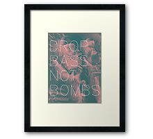 Drop Bass Not Bombs (Vintage) Framed Print